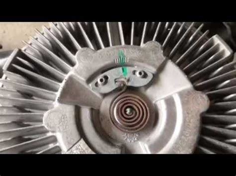 what does a fan clutch do adjusting temperature on viscous fan clutch youtube