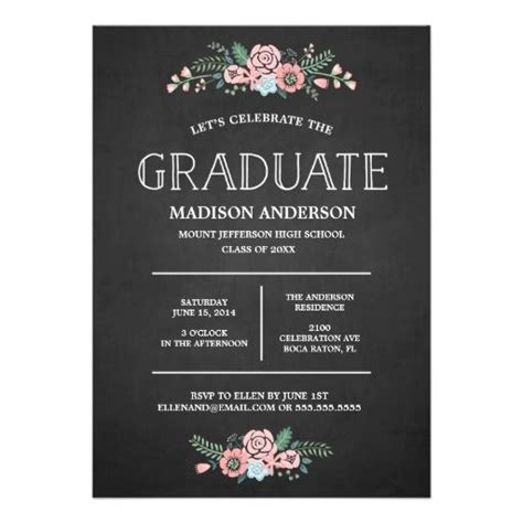 Graduation Announcement Template Card by Best 25 Graduation Invitations Ideas On