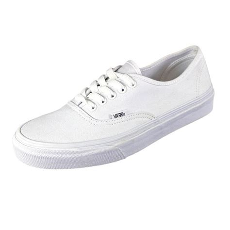white sneakers for vans vans authentic textile white sneakers athletic