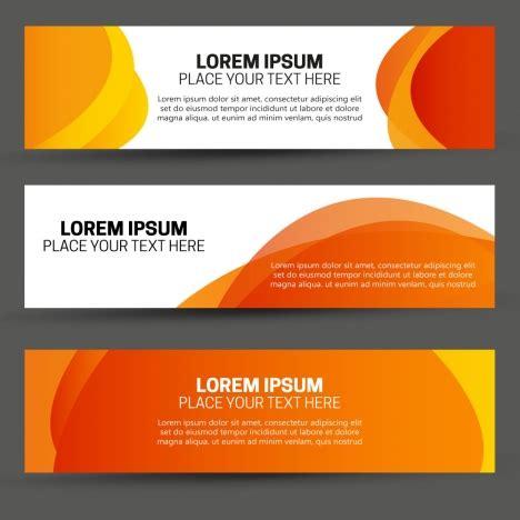 design banner orange abstract banners design on orange background vectors stock