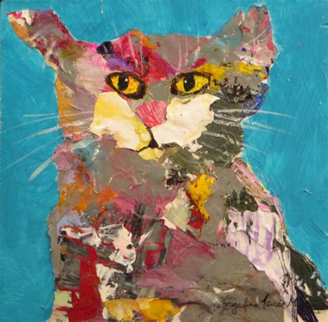 Cat Acrylic Maries that is my blanket cat acrylic painting