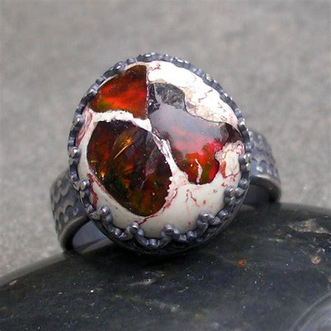 mexican fire opal fire opal ring opal ring mexican fire opal ring fire