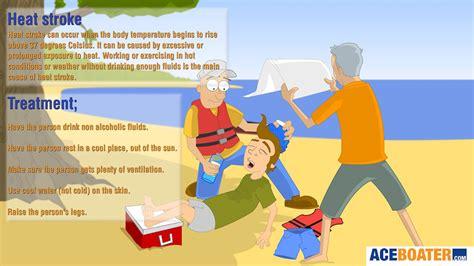 heat stroke heat stroke heat exhaustion symptoms treatment response aceboater