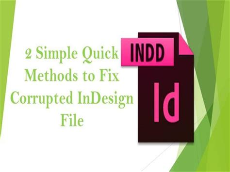 fix your corrupted powerpoint presentation file in few clicks 2 simple quick methods to fix corrupted indesign file