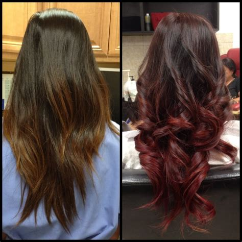 burgundy ombre medium length hair how to ombre medium burgandy stacked hair