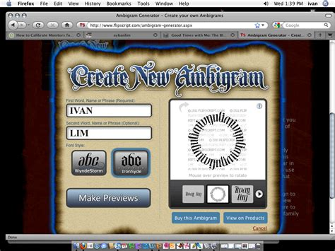 tattoo picture generator free design your own ambigram tattoo autos post