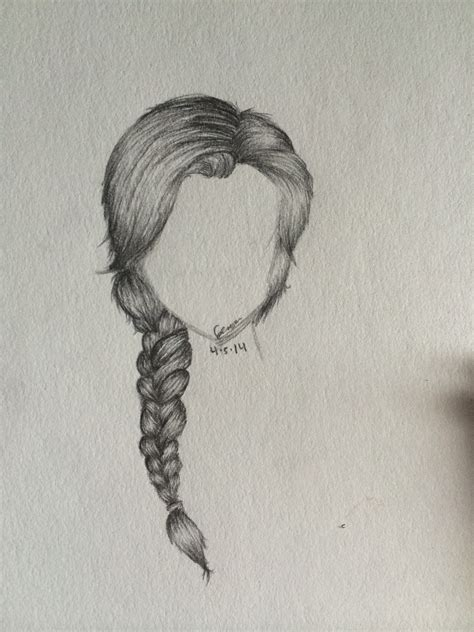 drawing hairstyles braid back view drawing google search art pinterest