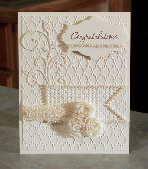 Handmade Wedding Cards Etsy - embossed congratulations card stin up by