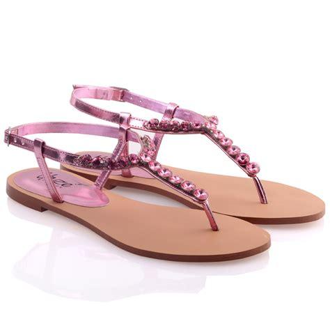 Verona Pink Flatshoes unze womens glida embellished flat sandals uk size 3 8 pink ebay