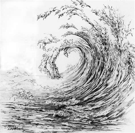 Drawing Waves by Pencil Search Surb Illustration
