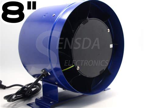 600 cfm exhaust fan 8 quot inline duct fan w speed controller 8 inch exhaust