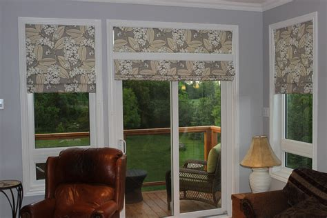 Blind For Patio Door Custom Interiors Shades In A Patio Door