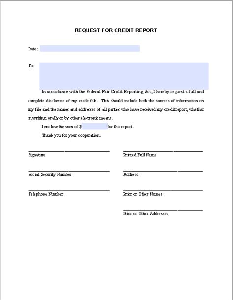 vendor authorization letter format request letter for credit report free fillable pdf forms