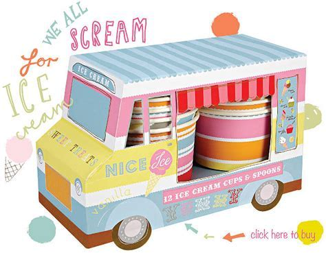 sweet treats van with set of cups and spoons by little