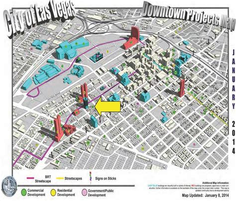 map of downtown las vegas downtown project map las vegas eclipse theaters