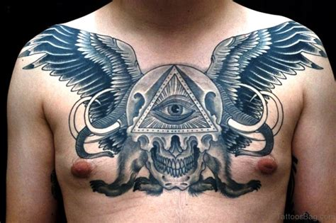tattoo eye with wings 84 marvelous all black tattoos on chest
