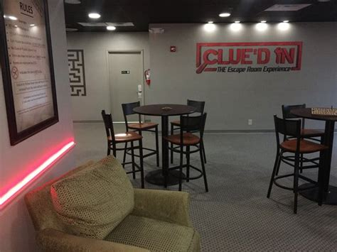 escape room experience our lobby at clue d in the escape room experience picture of grand prix karting indoor