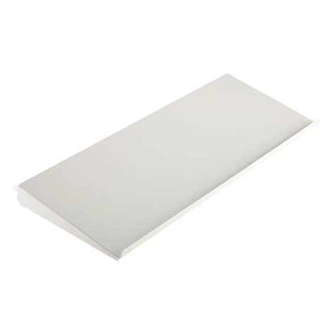 Angled Shelf by White Elfa Angled Solid Metal Shelves The Container Store