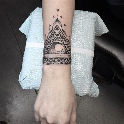 1000 ideas about mandala wrist tattoo on pinterest