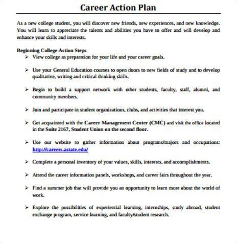 how to write a career plan template 8 sle career plan free sle exle