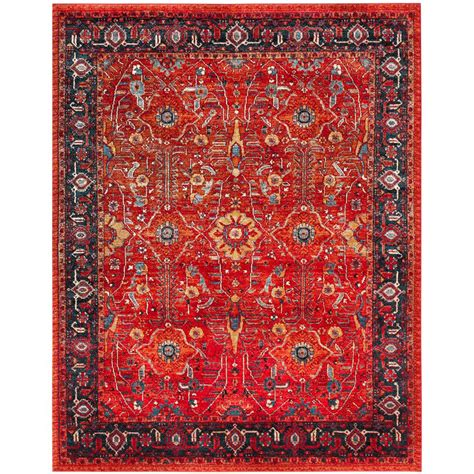 Safavieh Vintage Hamadan Orange Navy 8 Ft X 10 Ft Area Hamadan Rug
