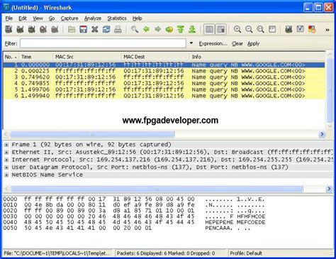 wireshark latency tutorial tri mode ethernet mac fpga developer