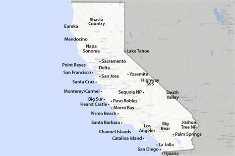map of california state maps of california created for visitors and travelers