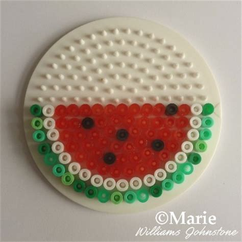 perler watermelon watermelon perler fruit pattern