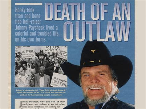 Johnny Paycheck Apartment Number Nine Lyrics Country Weekly 2003 04 01 Of An Outlaw Johnny