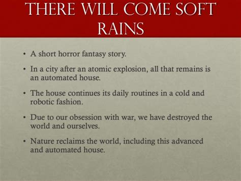 There Will Come Soft Rains Essay by The Pedestrian And There Will Come Soft Rains Essay