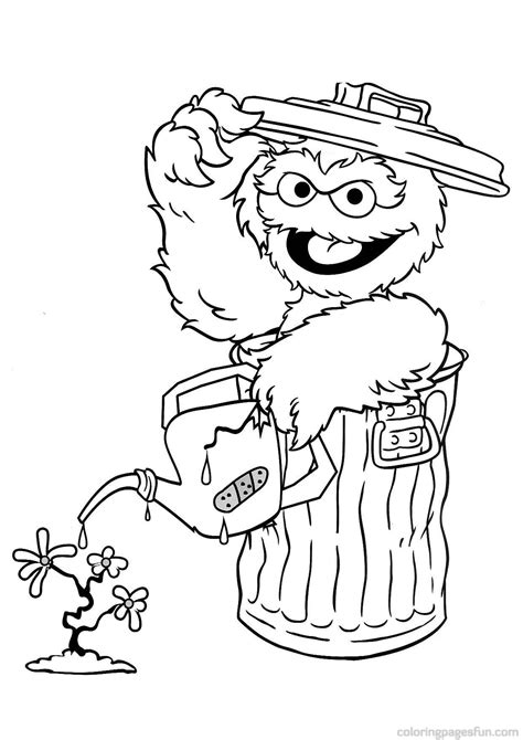 Oscar The Grouch Coloring Page Coloring Home Oscar The Grouch Coloring Pages