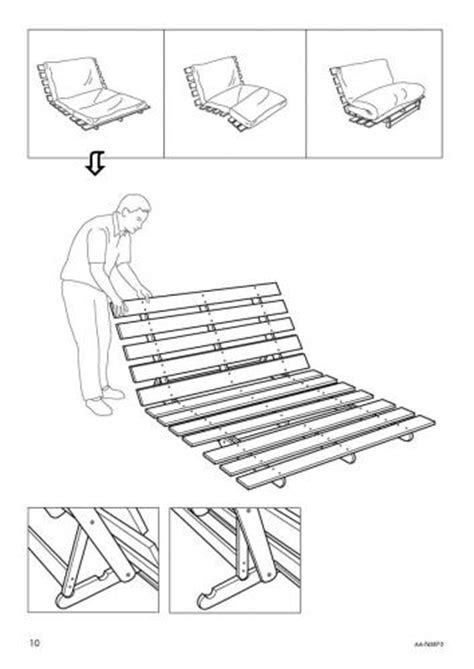 Ikea Futon Chair Instructions Ikea Sofa Bed Manual
