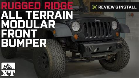 rugged ridge all terrain bumper jeep wrangler rugged ridge all terrain modular front bumper 2007 2016 jk review install