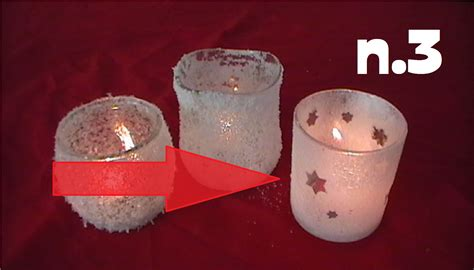 costruire candele natale fai da te candele effetto ghiaccio