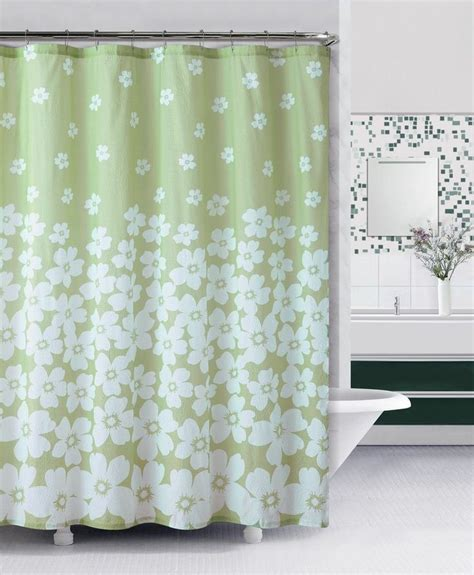 green and white shower curtains embossed fabric shower curtain green and white floral