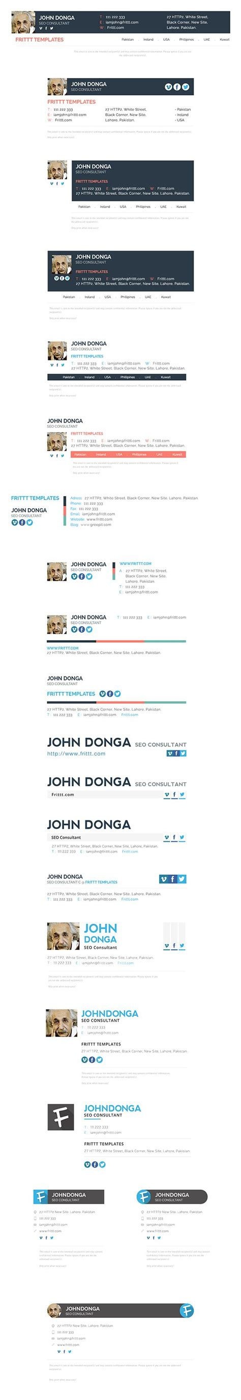 professional email signatures templates 17 best images about email signatures on