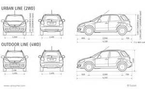 Suzuki Sx4 Dimensions Suzuki Sx4 1 Fiche Technique Dimensions