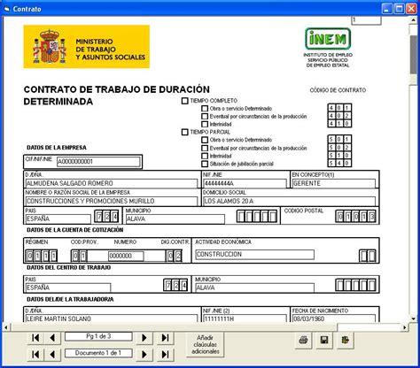 contrato general de empleo descargue plantillas de m 237 rate el ombligo contrato 218 nico y modalidades de