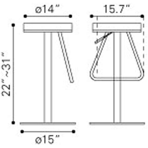 Stool Dimensions by Soda Bar Stool Black King Dinettes