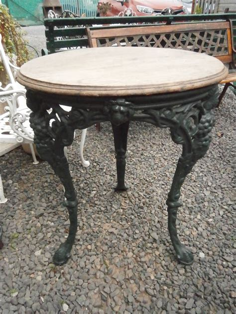 cast iron garden table antiques atlas cast iron garden table