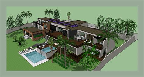 House Design Ideas Floor Plans 3d Modern House Design Sketchup
