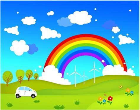 background pemandangan kartun animasi pictures  pin