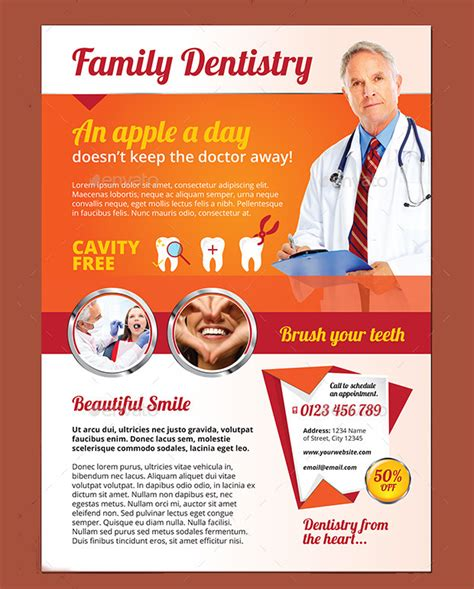 20 dental flyer templates printable psd ai vector eps