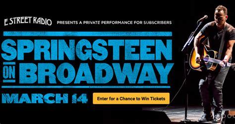 siriusxm springsteen on broadway sweepstakes 2018 - Broadway Sweepstakes