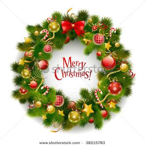funny animated christmas wreaths merry wreath clipart