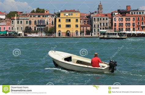 venice motor boat motor boat in venice editorial stock photo image 20840663