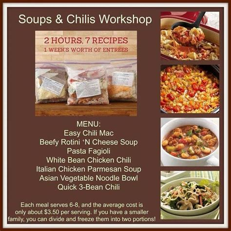 Pantry Chef Recipes by Jan 2015 Soups Chilis Choose Your Date Thurs 1 22