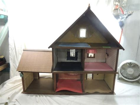large wooden doll houses large wooden vintage dollhouse