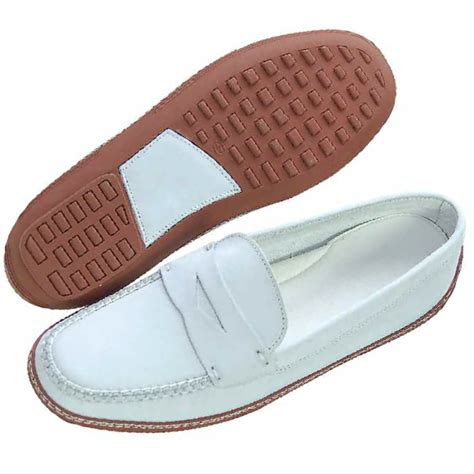 david spencer key west driving shoes white