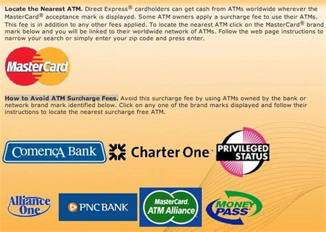 comerica bank direct express direct express free atms direct express card help